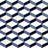 Cubular in Royal Blue - Easy Wallpaper Tiles