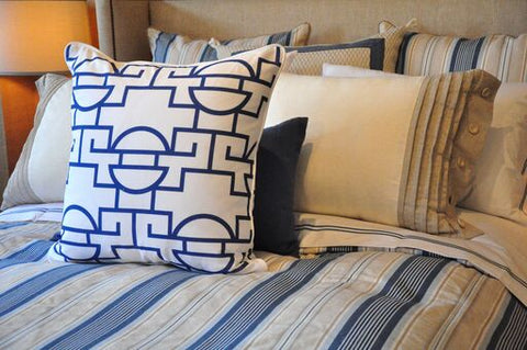 Just Too Graphic Pillow - Blueberry