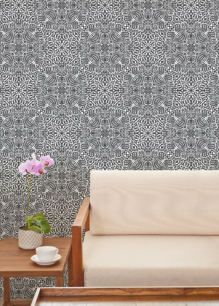 Flora Spiral - Gray Wallpaper - ABRA 2.018 Collection