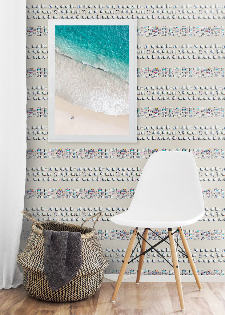 Riviera Stripe - Gray Malin Wallpaper