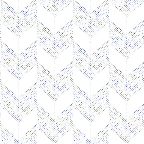 Chevron - White - Organic Wallpaper Collection