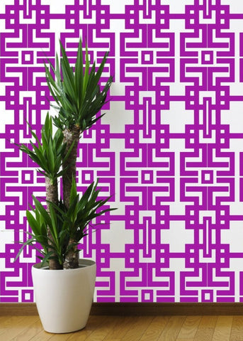 Aztec - Plum Wallpaper - The Blush Label
