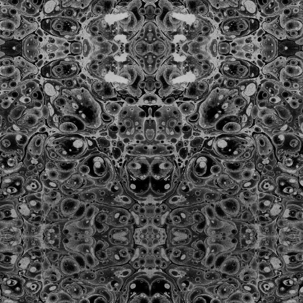 """PEWTER KALEIDOSCOPE"" ABRA REMOVABLE WALLCOVERING"