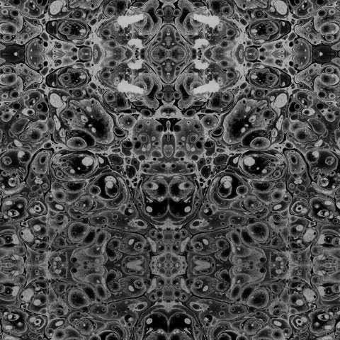 Pewter Kaleidoscope Wallpaper - ABRA Collection