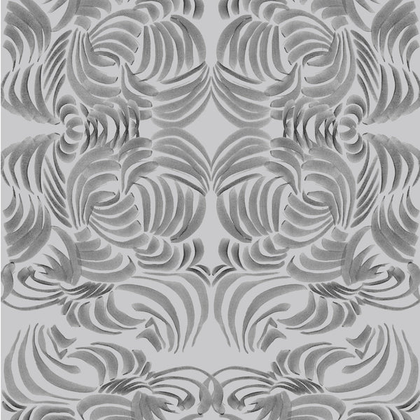 """SILVER FLORA"" ABRA REMOVABLE WALLCOVERING"