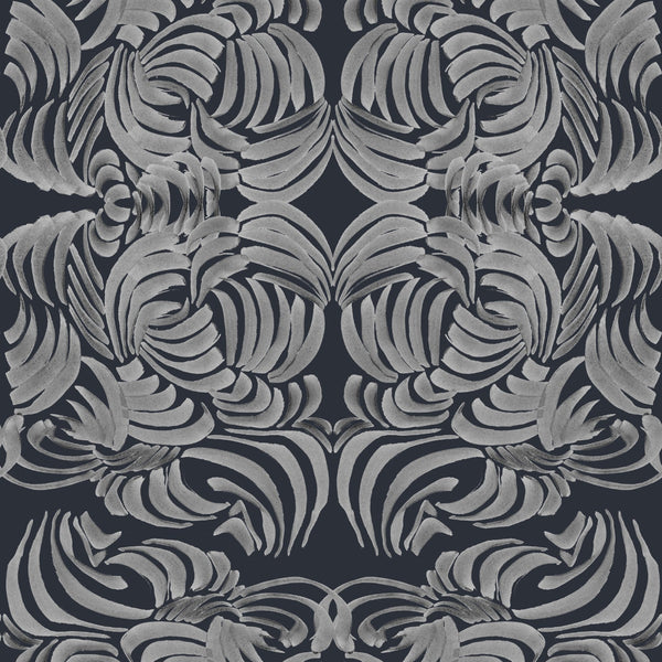 """SILVER NIGHT FLORA"" ABRA REMOVABLE WALLCOVERING"