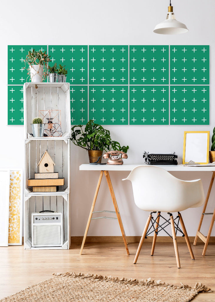 Addition in Signature Green - Easy Wallpaper Tiles