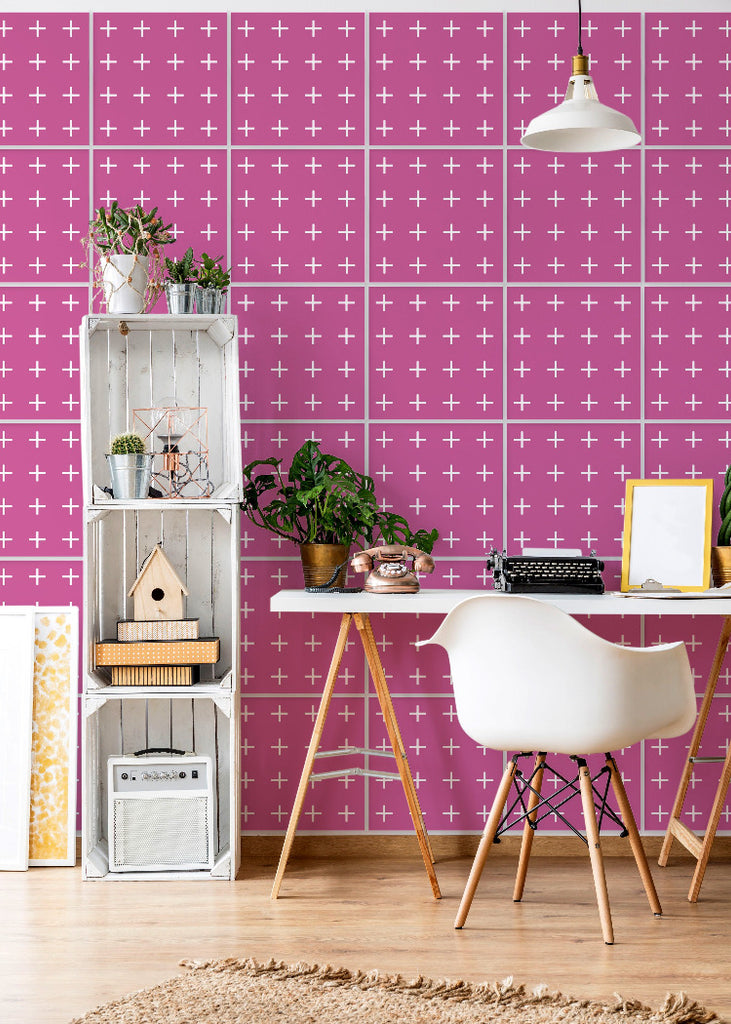 Wall Tile Addition in Pink