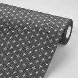 Addition - Jet Black Reverse Wallpaper - Mrs Paranjape Papers