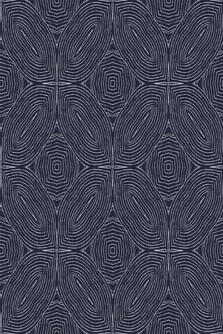 Arbor Quad Fabric - Navy Blue