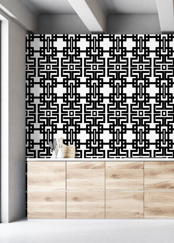 Aztec - Black Wallpaper - The Blush Label