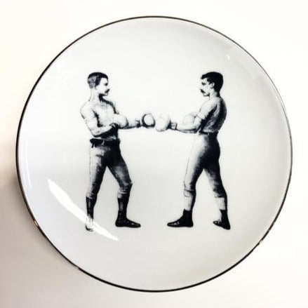 Pugilist Mitchell Black Touch Gloves Plate