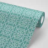 Bamboo Teal Wallpaper - The Blush Label