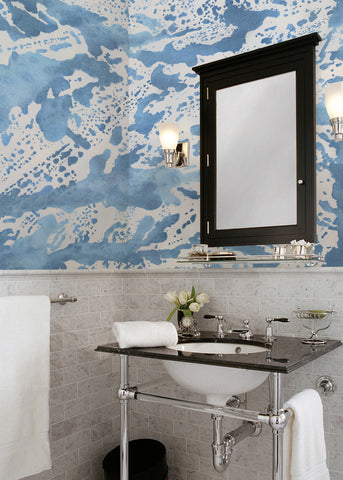 Rain Wallpaper Mural by Joyfire for Mitchell Black Home Chicago Beth Glover Artist