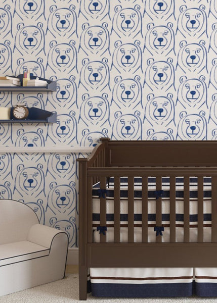 """BEARS"" REMOVABLE WALLCOVERING"