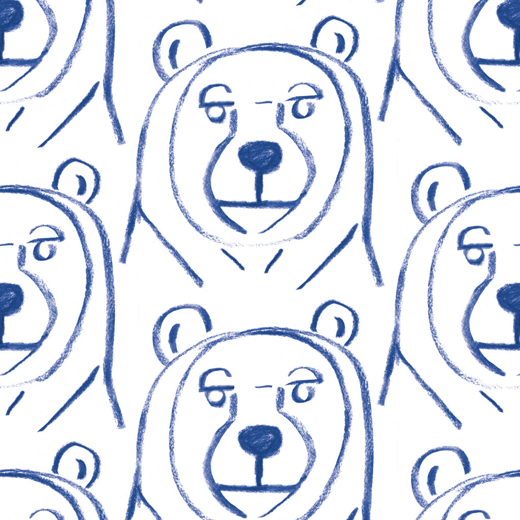 Bears Gift Wrap - Blue