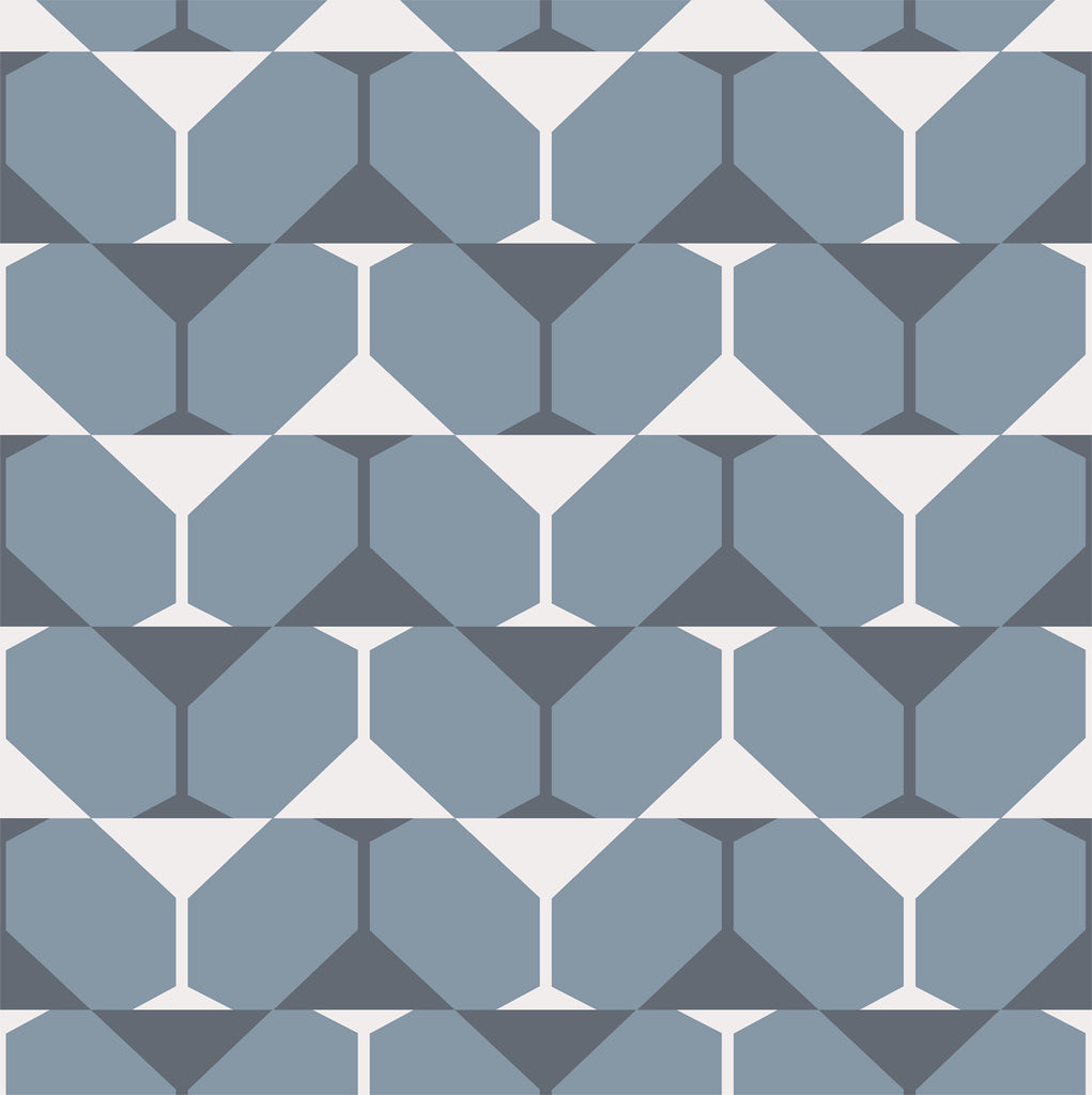"""BIKINI MARTINI"" - Grey/White - REMOVABLE WALLCOVERING"