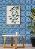 Bamboo Blue Wallpaper - The Blush Label