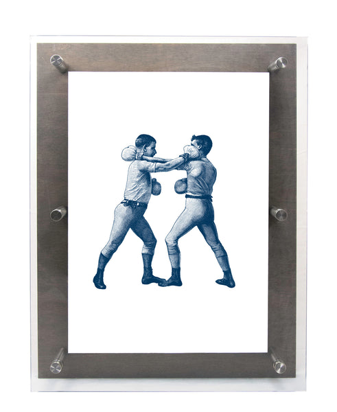 BOXER - RIGHT CROSS in Midnight - Wood & Acrylic Frame