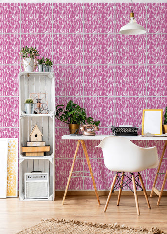 Wall Tile Brush Marks in Pink