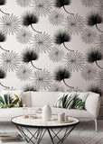 Cabbage Palm - White Wallpaper - Bohemian Bungalow Collection