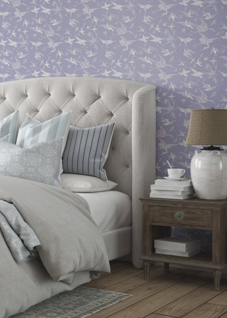 Chasing Birds - Lavender Wallpaper - Nomad Collection