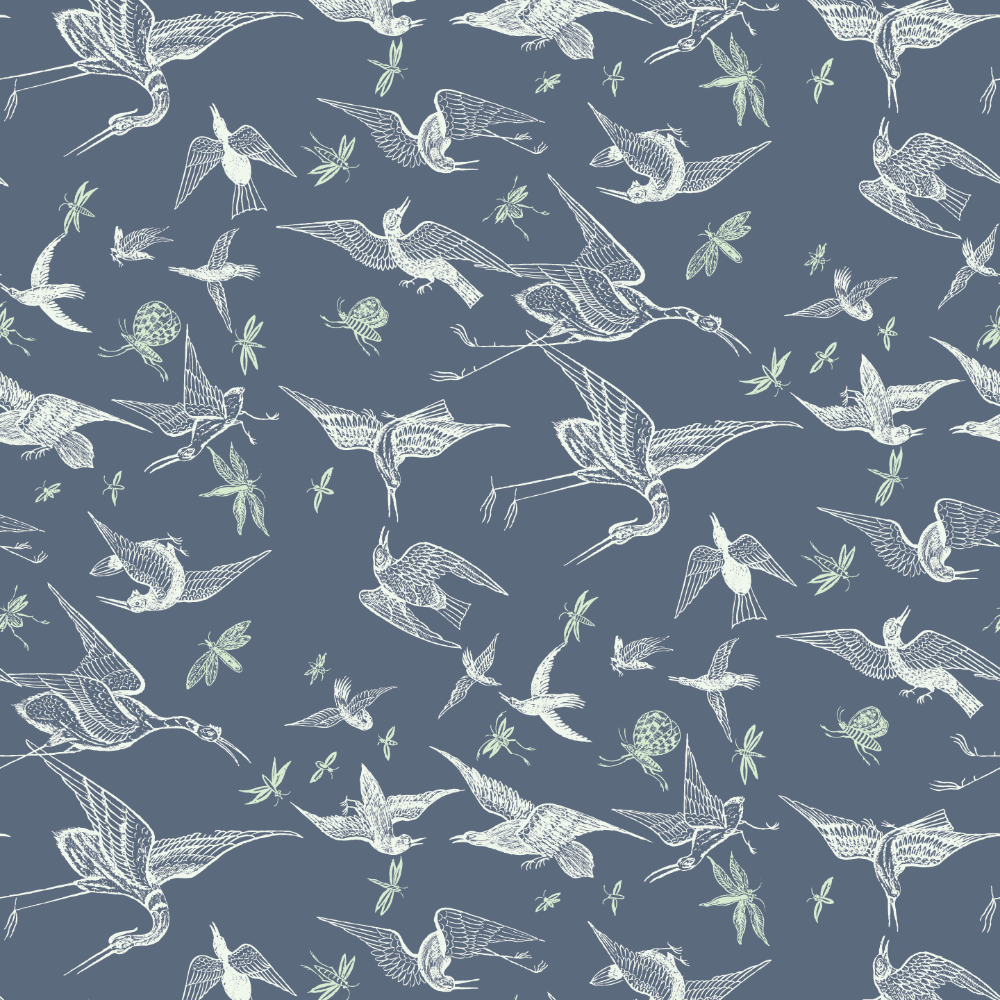Chasing Birds - West Coast Blues Wallpaper - Nomad Collection