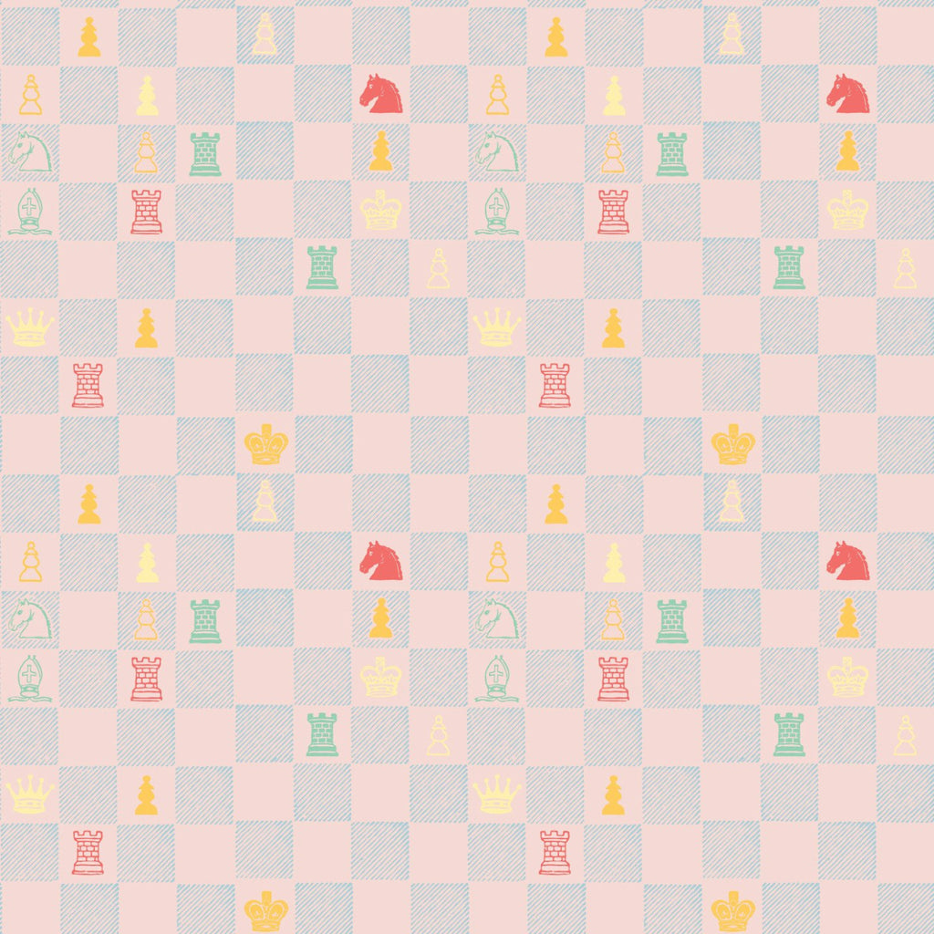 Chess - Pink Wallpaper - MB BABY