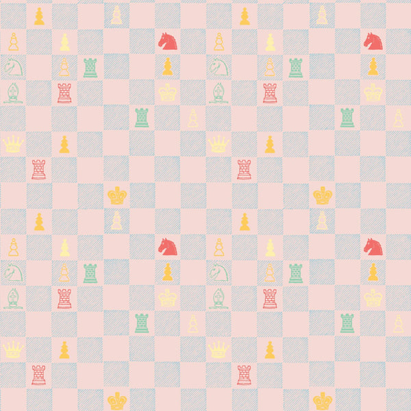 """CHESS"" in Pink REMOVABLE WALLCOVERING"