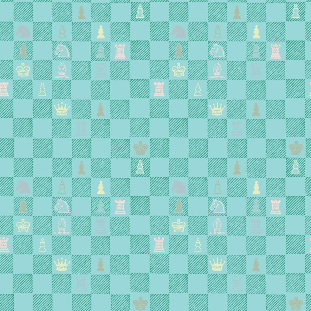 Chess Wallpaper - Teal - MB BABY