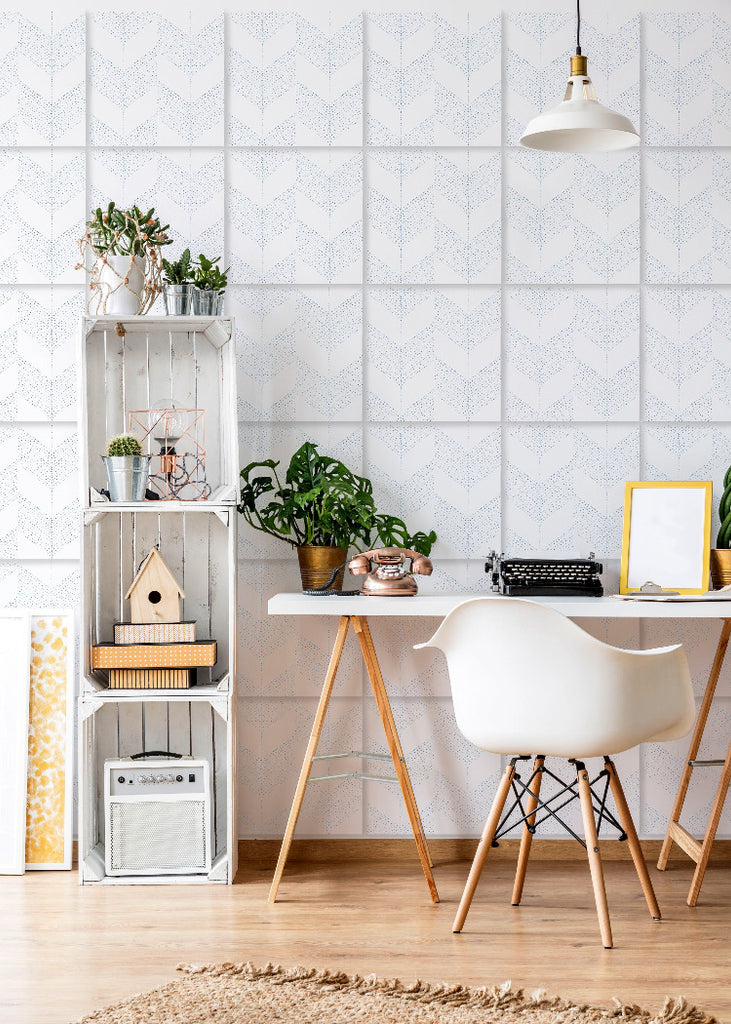Wall Tile Chevron in White
