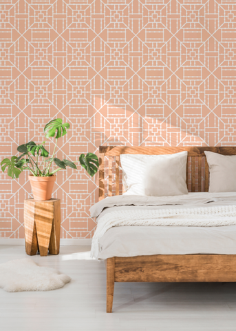 Bamboo Coral Wallpaper - The Blush Label