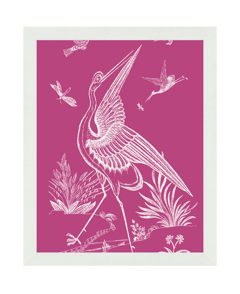 Pink Crane - Framed Art