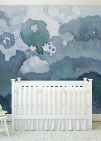 The Pangea Wallpaper Mural by Joyfire for Mitchell Black Home Chicago by Beth Glover