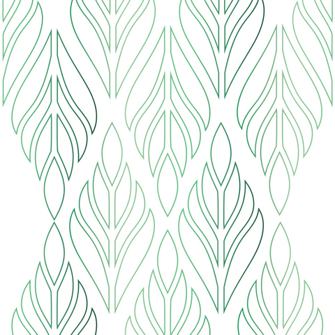 Deco Palm - Emerald Green Wallpaper - Bohemian Bungalow Collection