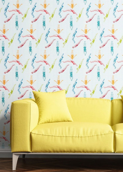 """DIVERS"" - Popsicle - REMOVABLE WALLCOVERING"