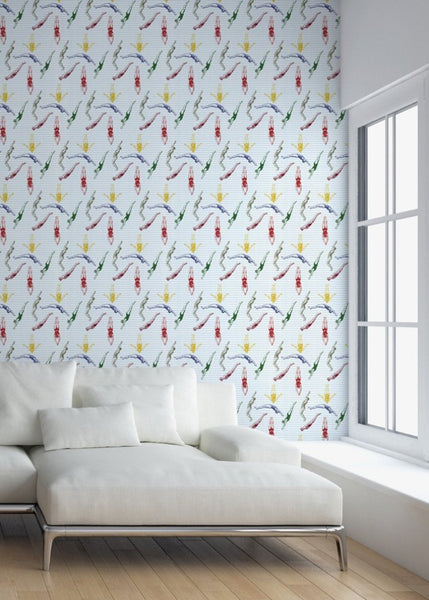 """DIVERS"" - Varsity - REMOVABLE WALLCOVERING"