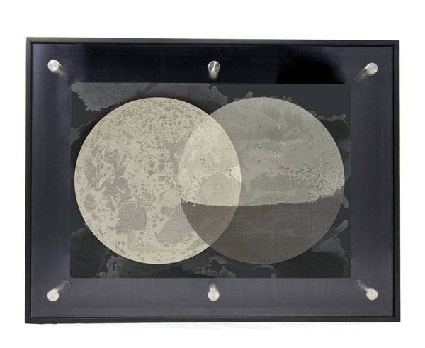 DOUBLE MOONS - Shadowbox Frame