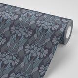 Dragonflower - Grey/Blue Wallpaper - MB SIGNATURE