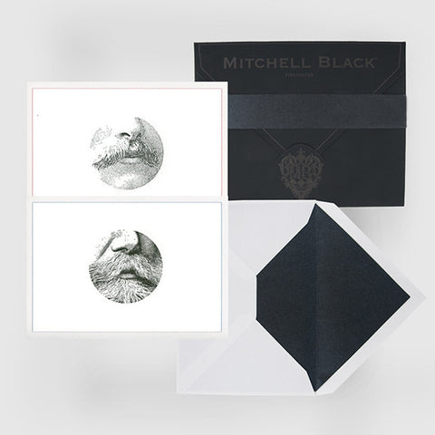 """MUSTACHE"" LETTERPRESS BOXED CARD ASSORTMENT"