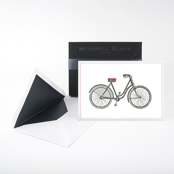"""HERS BICYCLE"" CARDS - BOX OF 6"