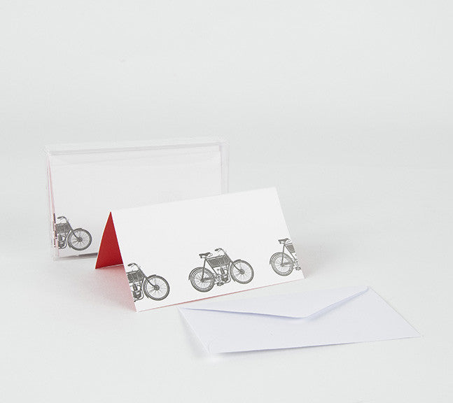 """MOTORBIKE"" ENCLOSURE / PLACECARD SET OF 8"
