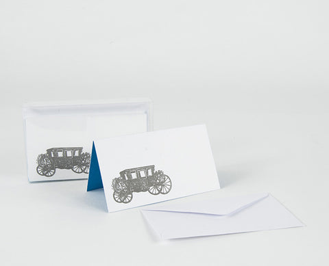 """ROYAL COACH"" ENCLOSURE / PLACECARD SET OF 8"
