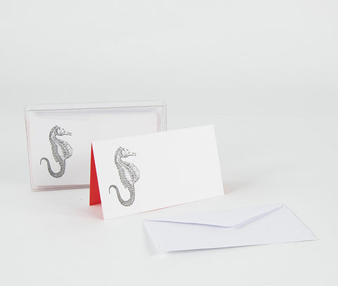 """SEAHORSE"" ENCLOSURE / PLACECARD SET OF 8"