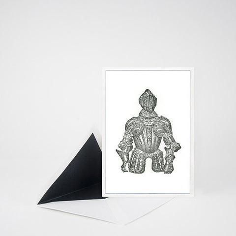"""ARMOR"" LETTERPRESS BLANK NOTE CARD"
