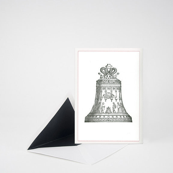 """BELL"" LETTERPRESS BLANK NOTE CARD"