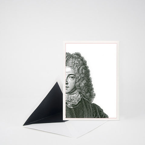 """CHEVALIER"" LETTERPRESS BLANK NOTE CARD"