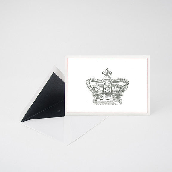 """CROWN ENGLAND"" LETTERPRESS BLANK NOTE CARD"