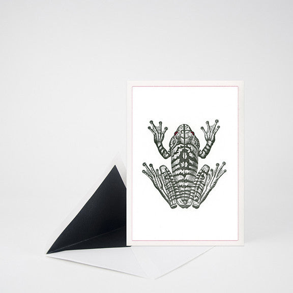 """FROG"" LETTERPRESS BLANK NOTE CARD"