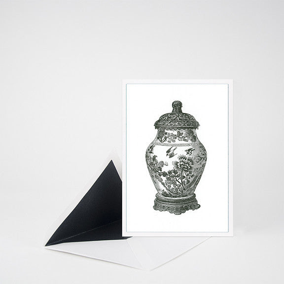 """GINGER JAR"" LETTERPRESS BLANK NOTE CARD"